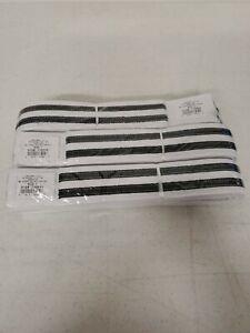 Century Martial Arts Double Stripe white belt Karate Taekwondo 2 Black stripes