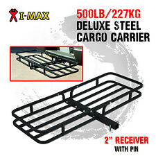 I-Max Deluxe Steel Cargo Carrier Rack Luggage Basket Hitch Towbar Car 4WD 4x4