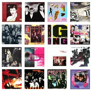 MINIATURE 1/12th Non Playable - LP. RECORD ALBUMS - DURAN DURAN - VARIOUS