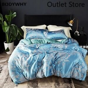 Jacquard Comforter Thicken Velvet Quilt Bedding Printed Luxury Duvet Twin Full