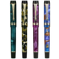 Moonman M600S Acrylic Resin Fountain Pen, F/M/Bent Nib Fashion Writing Gift Pen