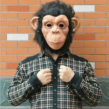 Monkey Mask Funny Adult Animal Costume Head Halloween Fancy Dress G