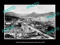 OLD POSTCARD SIZE PHOTO OF ZEEHAN TASMANIA PANORAMA OF THE TOWN c1910 1