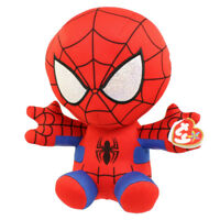 "TY Beanie Baby 6"" SPIDER-MAN Spiderman (Marvel) Plush Stuffed Animal Toy MWMT's"