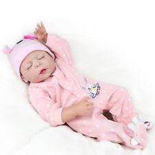 22'' Full Silicone Reborn Baby Doll Bathe Best Bebe Reborn Doll Girl