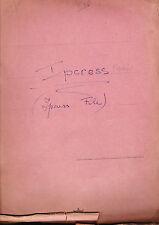 Len Deighton, Ipcress - Italian Typewritten Script - Geoffrey Romney's  Copy