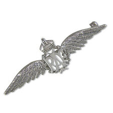 RAF BROOCH BADGE PIN SOLID 925 SILVER SWEETHEART WW1 WW2 STERLING BOXED NEW ARMY