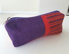 Ethnic pencil case small cosmetic pouch purse Javanese Lurik batik handmade gift