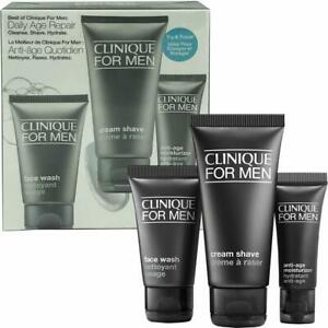 Best of Clinique for Men Daily Age Repair Set Cleanse/Shave/Hydrate SEALED
