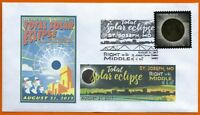RIGHT IN THE MIDDLE. Total Solar Eclipse. St. Joseph, Missouri. Postal Cover