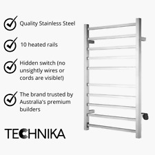 Technika Heated Towel Rail Electric 10 Rail Wall Mounted 70% OFF