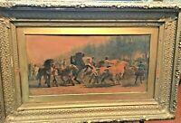 19th Century Hudson River Cove Frame Carved & Gesso, Cromo Signed  Rosa Bonheur