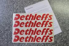4 x Dethleffs Aufkleber in rot für Wohnwagen Wohnmobil Camper