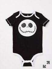 Nightmare Before Christmas Infant Baby Jack Face Snap Suit Onesie Size 0-6 Month