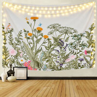 US Stock Nature Flowers Plant Tapestry Wall Hanging Home Art Decor Wall Blanket