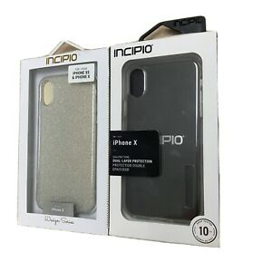 NEW Incipio Dual-Layer Protective Case for iPhone X Clear and Design Series