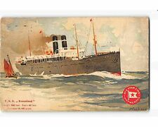 ST1149: RED STAR LINE S S KROOLAND CASSIERS (chromolitho postcard 1913 PM)