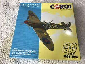 "Corgi Aviation Archive Supermarine Spitfire Mk.1 R ""Lucky"" Leigh 66 Sqn AA39211"