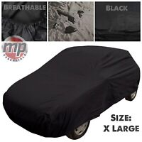 Black Indoor & Outdoor Frost Rain UV Breathable Full Car Cover for Ford Mustang