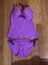 Old Navy Woman's 2 piece Tankini Set Purple Bathing Suit Size Large