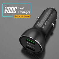 Super Fast Charge VOOC Dual USB Car Charger For OPPO R7 R9 R11 R11S Plus A75 A83