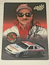Dale Earnhardt ACTION PACKED OVERSIZED 5x7 NASCAR SILVER 1995 autographed card
