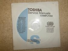 Toshiba Projection TV Service Manual CD CDSMPJTV03 *FREE SHIPPING*