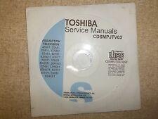 Toshiba Projection TV Service Manual CD CDSMPJTV03 *FREE SHIPPING*