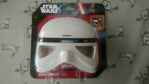 BOYS DISNEY STAR WARS STORM TROOPER SWIMMING MASK GOGGLES NEW