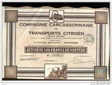 EB1  ACTION CITROEN, Aude,Carcassonne, compagnie des transports 800 Ex