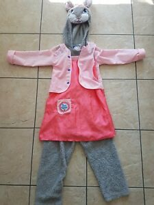 Girls peter rabbit dress up costume ages 5-6