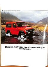 Original Vintage Mercedes Benz Jeep Advert Shooting Times & Country Mag July '85