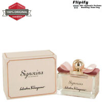 Signorina Perfume 3.4 oz EDP EDT Spray For WOMEN Salvatore Ferragamo .17 oz Mini