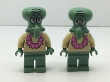 Lego Lot of SpongeBob SquarePants Squidward - Pink Lei Minifigures