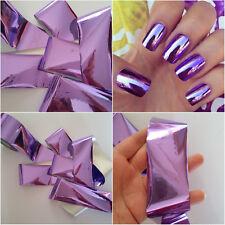 Efecto de espejo púrpura Nail Art de transferencia de Decoración de Uñas 1 M De Aluminio Pegatina vendedor del Reino Unido
