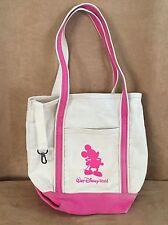 "Walt Disney World Mickey Mouse Canvas pink 10"" Bag Tote eco reusable shopping"