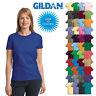 Gildan Ladies Ultra Cotton Blank T-Shirt Womens Tee XS S M L XL 2XL 3XL 2000L