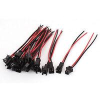 10 Sätze RC Modell EL Wire Kabel 2 Pin Female Stecker Stecker Buchse