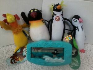 SURF'S UP penguins rooster lot soft plush movie toy Chicken Joe & Lani have tags