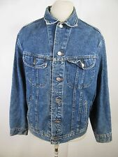 VTG Men's Lee Denim 100% Cotton Jean Jacket Size L A3785