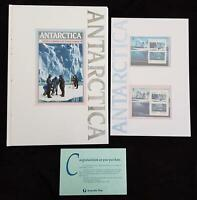 ANTARCTIC BOOK, STAMP PACK & LARGE POSTER - STAMPS & POSTER MINT, BOOK MARKED