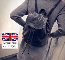 New Women Ladies Leather Travel Satchel Shoulder Backpack School Rucksack Bag