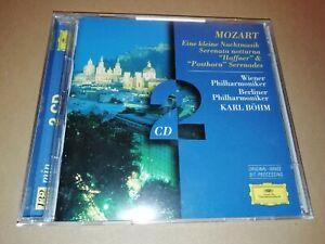 MOZART * EINE KLEINE NACHTMUSIK....* KARL BOHM DEUTSCHE GRAMMOPHON 2 X CD 1997