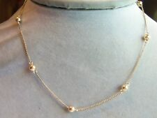 Victorian Winard Gold filled Bead Chain Necklace Stunning estate jewelry dainty