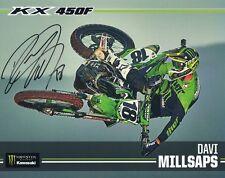 "*Davi Millsaps*Signed*Autograph ed*Photo Card*Monster*Energy*Kawas aki*8""X10""Proof"