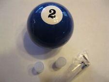 Cool Blue #2 Pool Que Ball Shift Knob