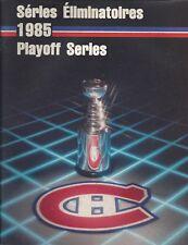 1985 Montreal Canadiens vs. Boston Bruins NHL Hockey Playoff Program