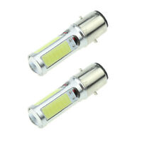COB LED Motor Bike/Moped/ATV Headlight Bulb Fog Weiß Light DRL BA20D H6 E301