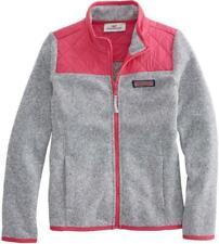 NWT - $88 Vineyard Vines Fleece Quilted Shoulder Full-Zip Jacket  M (10-12)