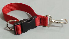 Sav-A-Jake Firefighter Glove Strap - Quick Release Clip - Red